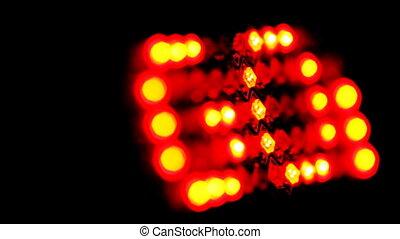 LED display with diagonal running line GOAL on black, loop -...