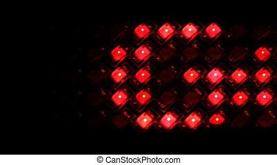 LED display with running line GOAL on black, loop