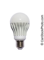 LED energy safing bulb. A60 E27. Isolated object