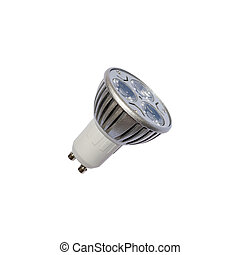 LED energy safing bulb. GU10. Isolated object