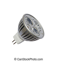 LED energy safing bulb. GU5.3. Isolated object