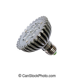 LED energy safing bulb. PAD30. Isolated object