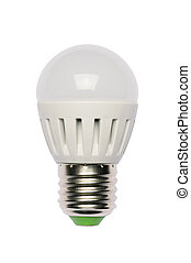 LED energy saving bulb. Light-emitting diode. Isolated object