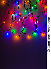led fairy lights - colorful led fairy lights with copy space