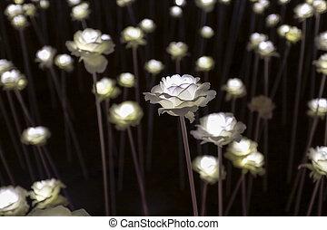LED flower garden