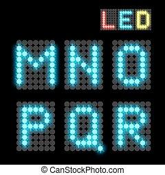 LED font