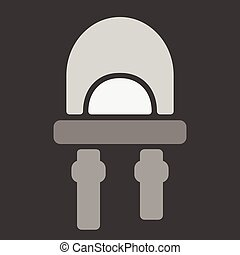 LED icon small Vector flat - LED icon. Vector illustration...