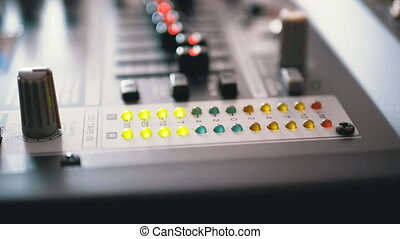 LED Indicator Level Signal on the Sound Mixing Console