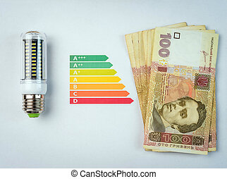 LED lamp and money