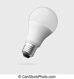 led lamp bulb isolated with clipping path