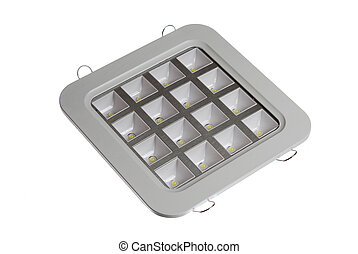 Led lamp isolated on the white background