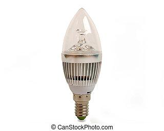 Led light bulb - candle led light bulb in vertical position