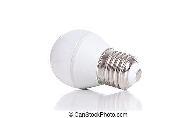 LED light bulb isolated on white