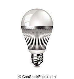LED light bulb isolated on white vector