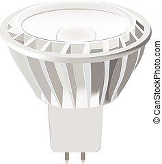 LED light bulb isolated