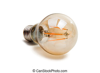 LED light bulb isolated