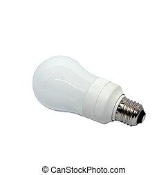 LED light bulb on white background