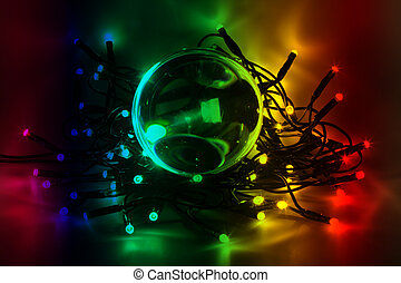 LED-Light - Chain of lights with LEDs create an atmospheric ...