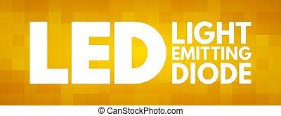 LED - Light Emitting Diode acronym, technology concept ...