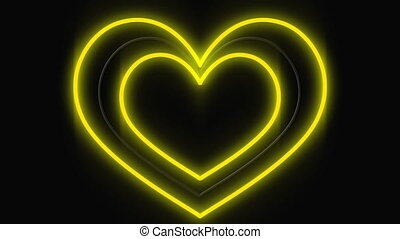 Led light sign of a beating heart