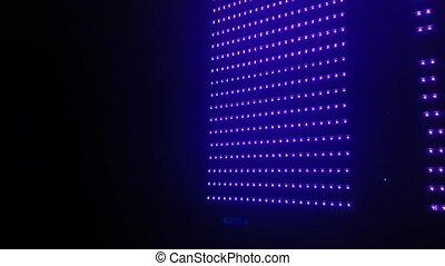Led Light Wall Animation, Disco Club Background Close Up