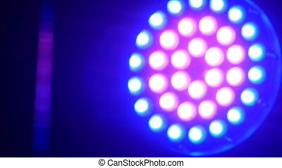 LED lighting equipment in the discoclub