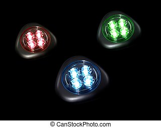 LED Lights - A close up shot of a battery operated led light