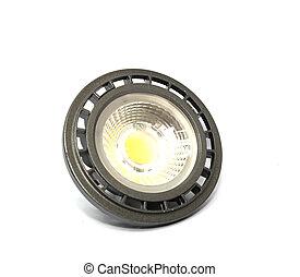 LED lights bulb isolated on white background