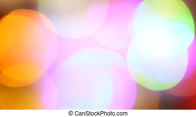LED Lights - Close up of blinking LED bulbs