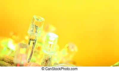 LED Lights - Close up of blinking?LED?bulbs?