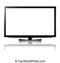 Led or lcd tv isolated on white