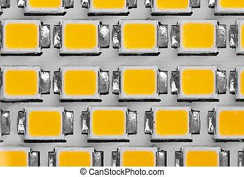 LED panel, close-up - lighting LED panel, close-up