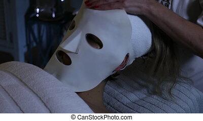 LED Photon Light Skin Rejuvenation Mask - Skin care process...