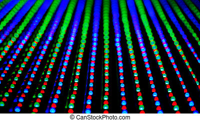 Led screen panel texture - RGB LED screen panel texture