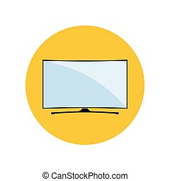 LED Smart Curved TV Icon