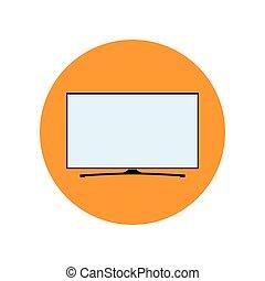 LED Smart TV Icon