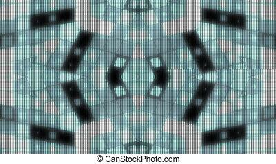 LED stye VJ looping shapes animated background