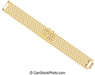 Led watch - Gold bracelet with Led Digital Light-emitting...