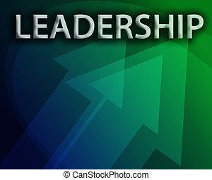 ledarskap, illustration
