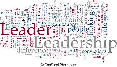 ledarskap, ord, moln