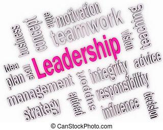 ledarskap, skicklighet, begrepp, 3, imagen