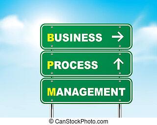 ledelse, firma, proces, tegn, vej, 3