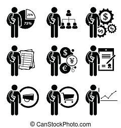 ledelse, grad, firma