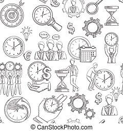 ledelse, seamless, tid
