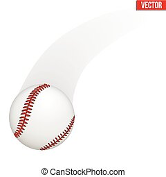 leder, baseball ball, vektor, abbildung
