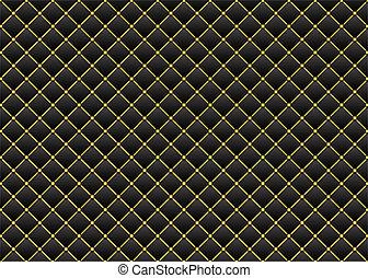 leder, black , goud, achtergrond, &
