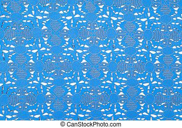 leder, embossed, pattern., textuur