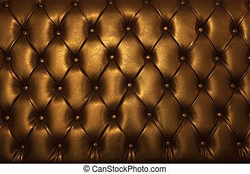 leder, goldenes, luxus, möbel