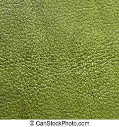 leder, groene, textuur, achtergrond