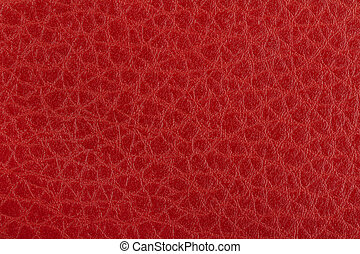 leder, op, textuur, karmozijnrood, afsluiten, rood